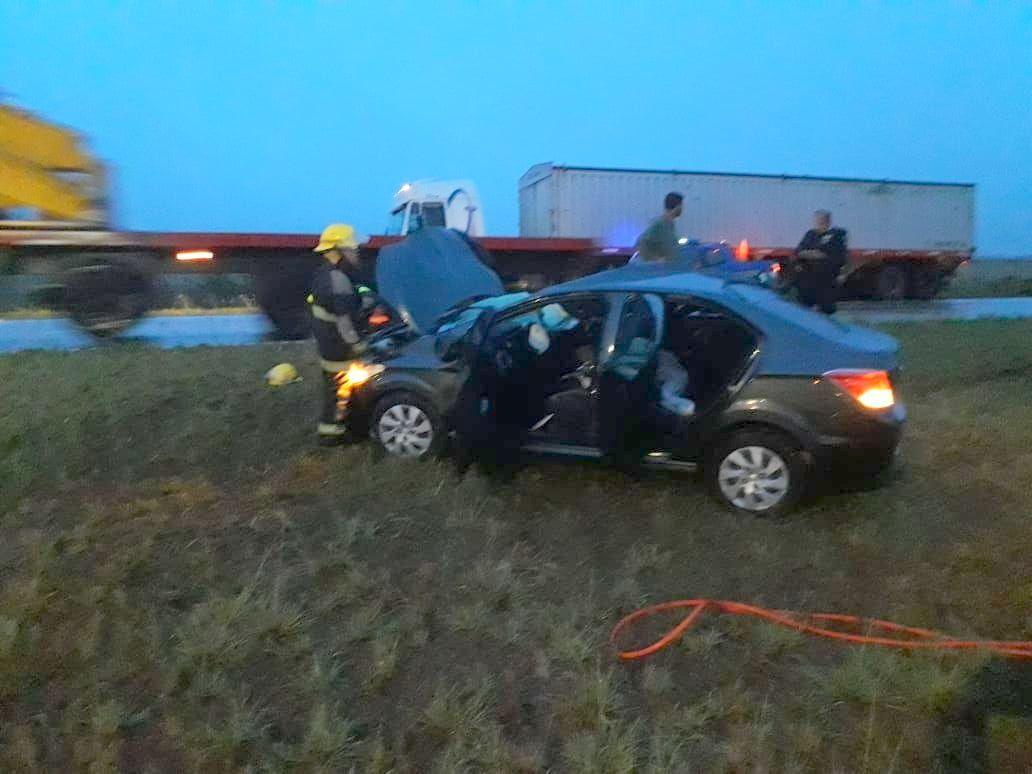 Accidente en autopista km 444
