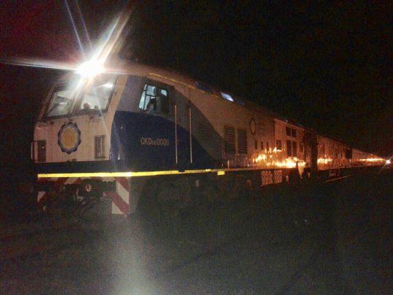 Tren de pasajeros varado