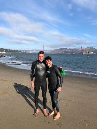 A nadar a Alcatraz viajaron Tomas y Lucas