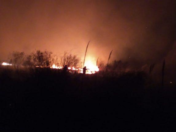 Incendio de campo en el bajo de Favaro