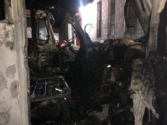 Incendio del camión podría ser intencional