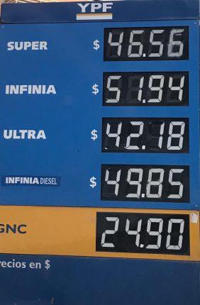 Aumentó nuevamente la nafta