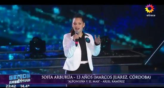 Sofía Arburua increíble con Tinelli anoche