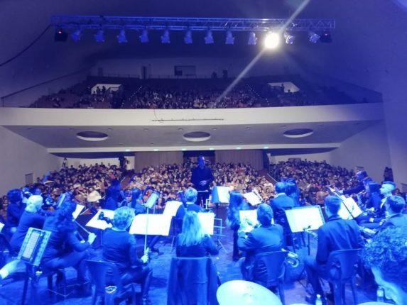 Banda Jose Cesanelli a teatro lleno en Alta Gracia