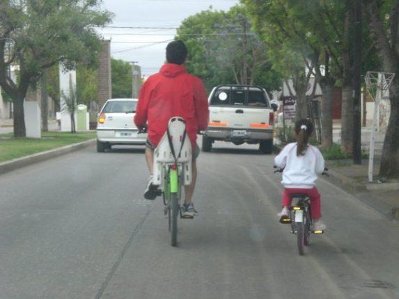 Miedo a que los chicos transiten en bicicleta.