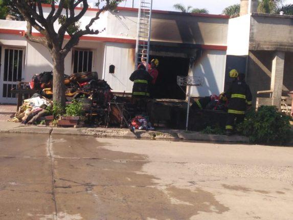 Salida de bomberos voluntarios