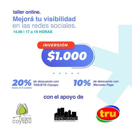 Capacitación: Mejorá tu visibilidad en redes sociales