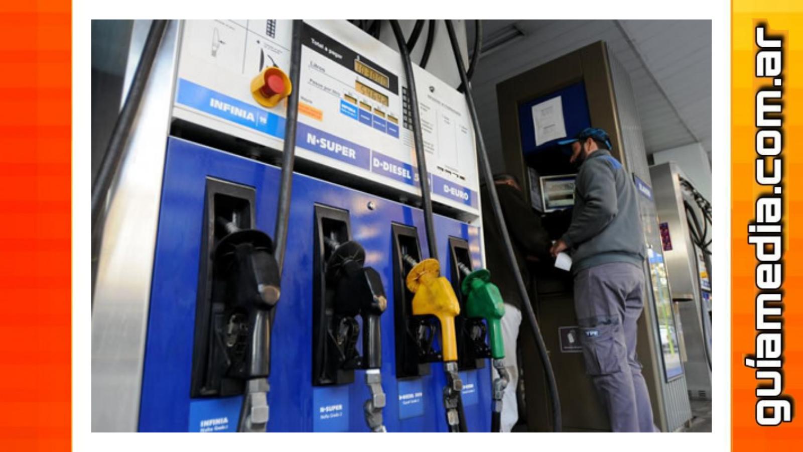 Nuevo aumento en combustibles rige desde hoy en YPF
